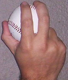 Baseball : Prise Fastball coupée (cutter)